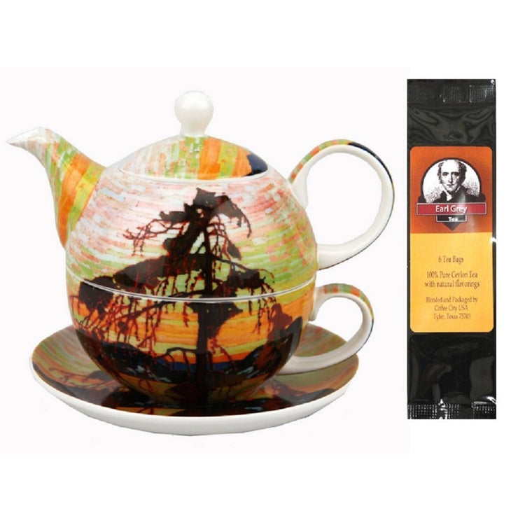 Tom Thomson Jack Pine Tea for One in Matching Gift Box and Gift Packaged Tea