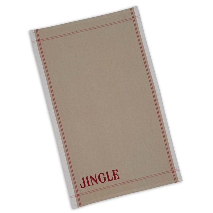Printed Jingle Kitchen Towel Dishtowel