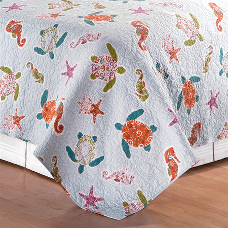 St. Kitts 3 Piece Full or Queen Reversible Quilt Set
