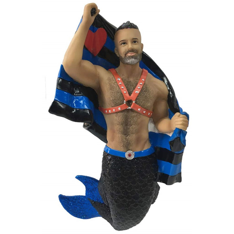 December Diamonds Merman Ornament Leather Pride 55-55104 7.5 Inches