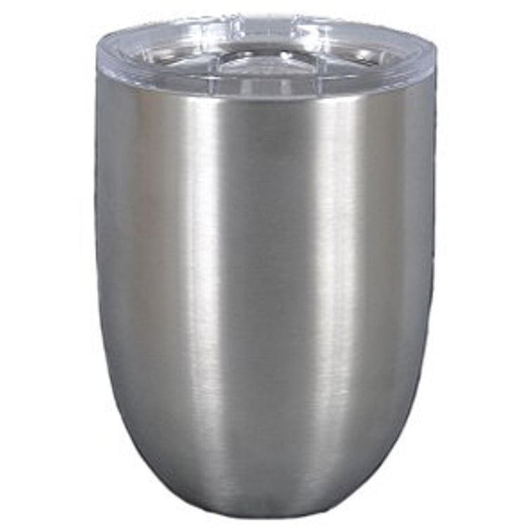 Magnolia Lane Stainless Steel Stemless Cup, 10 oz Silver