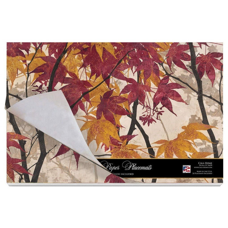 24 Cala Home Paper Placemats on Premium Paper Stock Maple Story