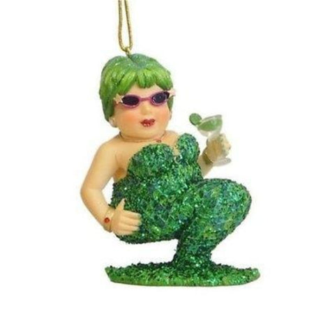 December Diamonds Mermaid Ornament,  Miss Margarita III Green