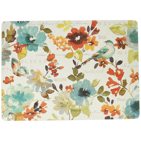 4 Cala Home Premium Hardboard Placemats Table Mats, Nature's Palette