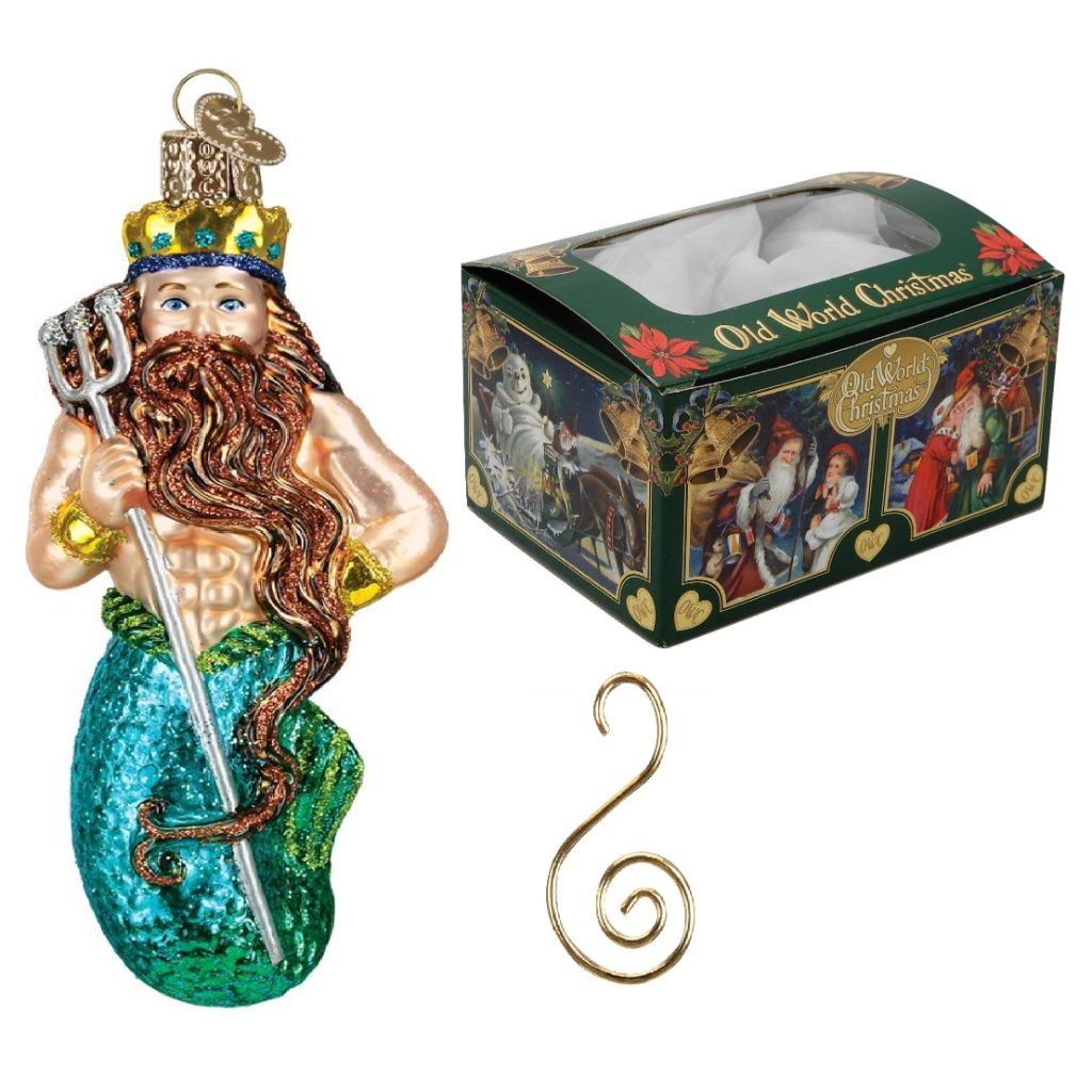 December Diamonds King Neptune Merman Christmas Tree Topper