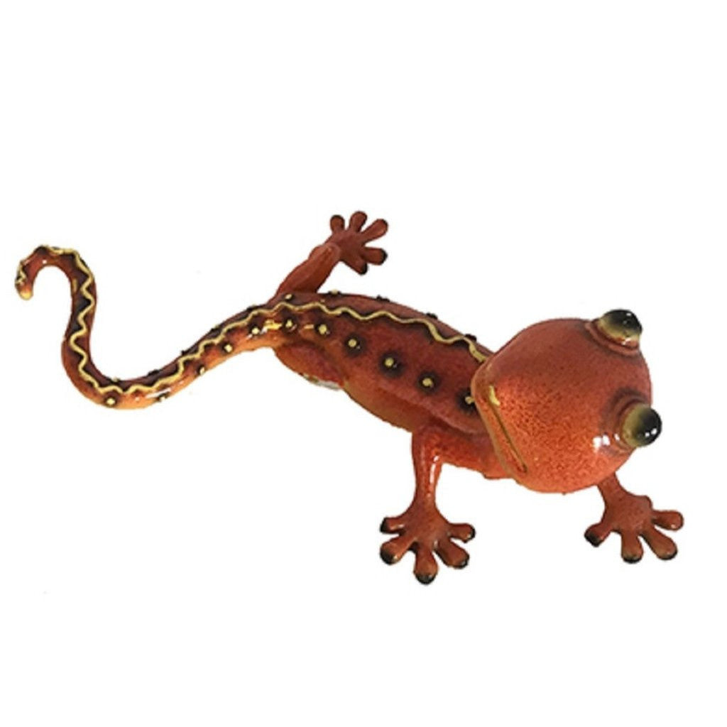 Orange Gecko Figurine Or Wall Decor