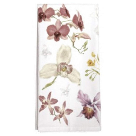 Scattered Orchids Cotton Flour Sack Dish Towel