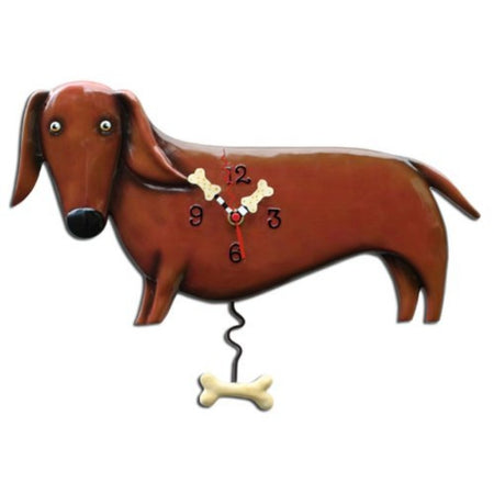 Oscar the Dachshund Swinging Pendulum Clock