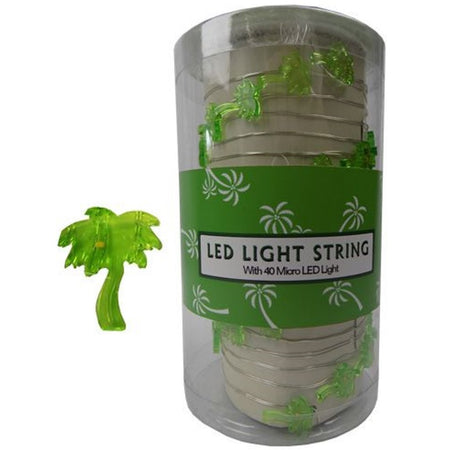 Battery Operated LED String Light, 40 Micro Palm Trees, 13 Feet