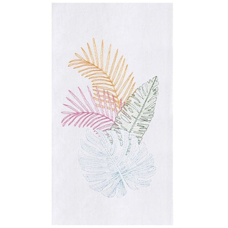 Palm Beach Embroidered Flour Sack Dishtowel