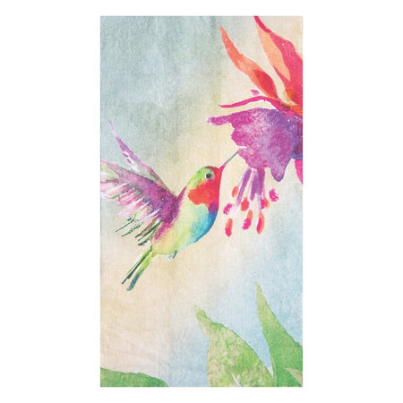 Red Hummingbirds Printed Flour Sack Kitchen Towel