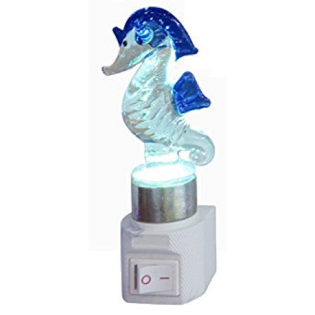 Clear Glass Seahorse Night Light