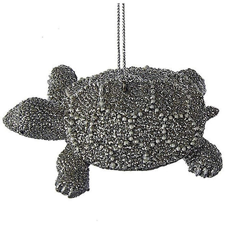 Sea Turtle Silver with Pearls Ornament