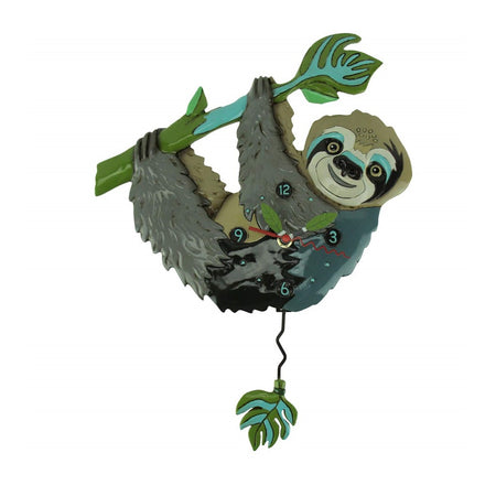 Swinging Pendulum Clock Slow Poke The Sloth