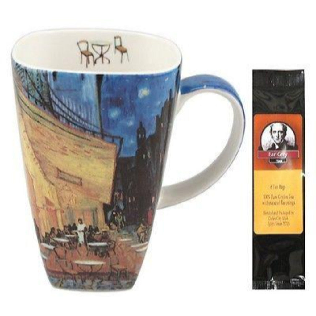 Van Gogh Cafe Terrace At Night Grande Coffee Mug Matching Gift Box and Tea Gift Package