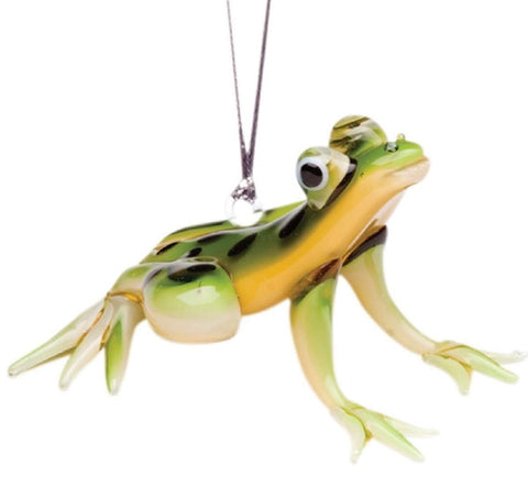 Glassdelights Glass Spotted Tree Frog Hanging Ornament