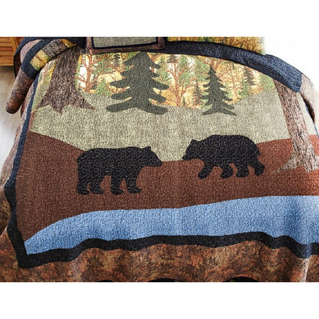 Donna Sharp Two Bears Queen or Full Size Quilt 90 X 90 Inches