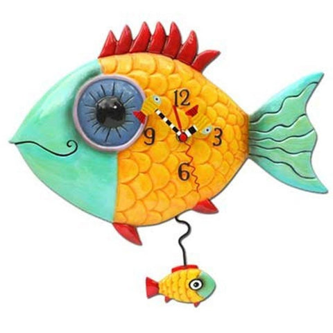 Tropical Fish Designed Clock,  Wide Eyed Fishy
