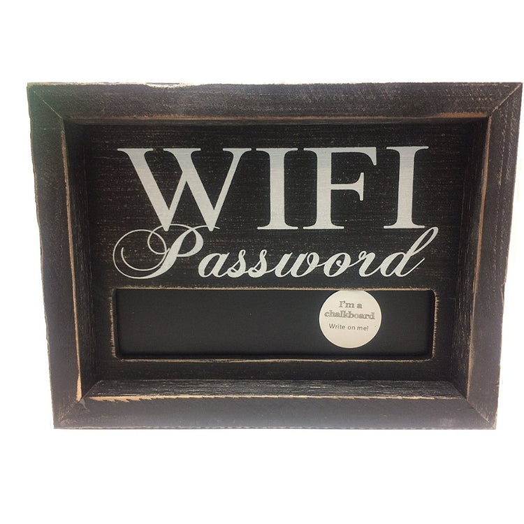 Small WiFi Password Chalkboard Sign 8 Inches x 6 Inches