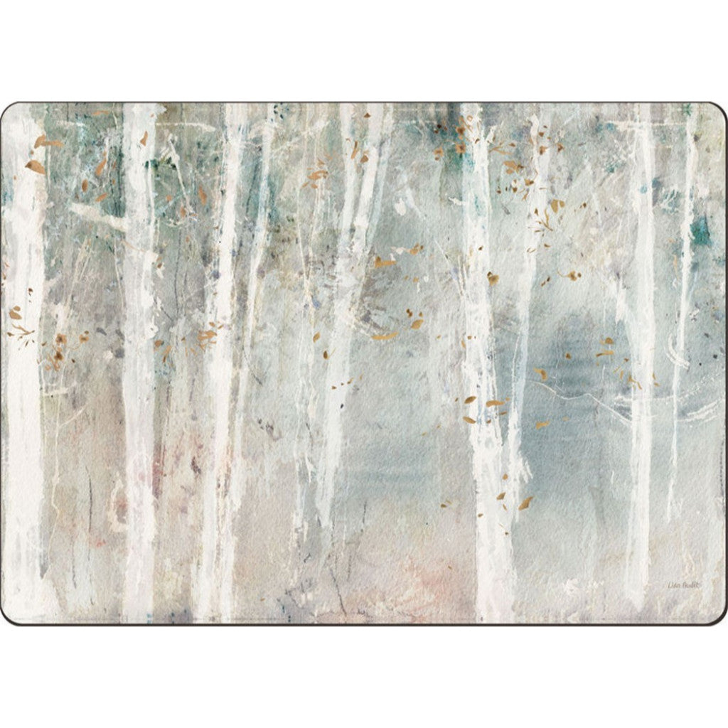 4 Cala Home Premium Hardboard Placemats Table Mats, Woodland Walk