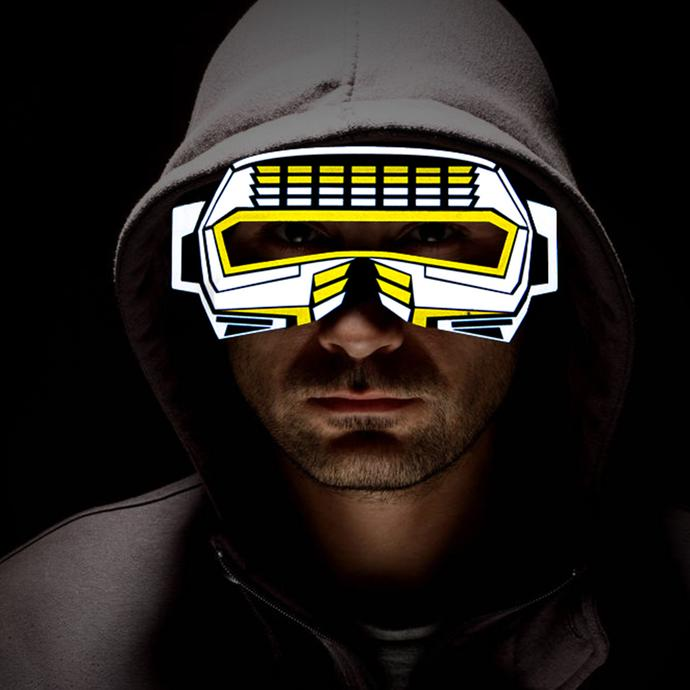 LED Rave Mask (Superman)