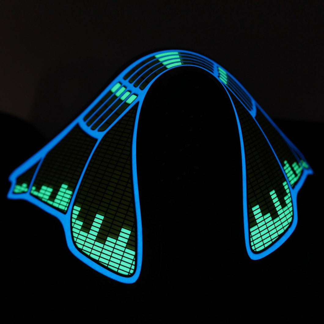 LED Rave Mask (Green Audio)