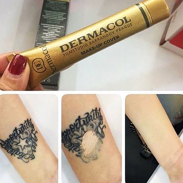 Dermacol make up cover brainiacs for Tattoo foundation cover up