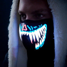 LED Rave Mask (Blue Tusk)