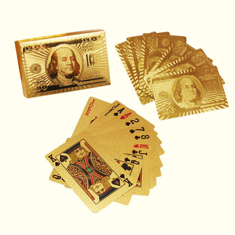 24k Gold Foil Playing Cards - with Certificate of Authenticity