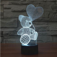 Christmas 3D Illusion Desk Lamp LED 7 Color