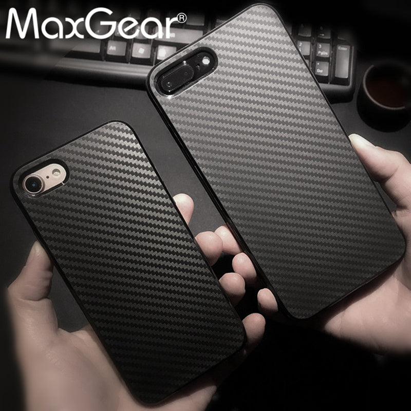 Newest Environmental Carbon Fiber Texture Case For Apple iPhone 5 5S SE 6 6S 7 Plus Soft Silicone Anti-Skid Anti-Knock Cover