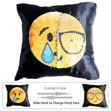 Changing Emoji Sequin Pillow Case