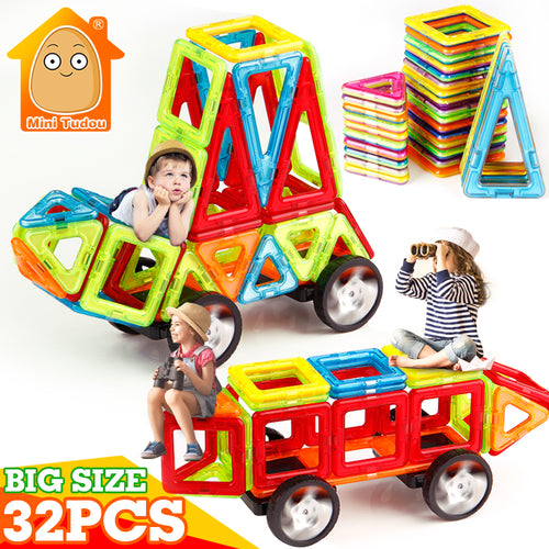 32PCS Mini Magnetic Building Blocks