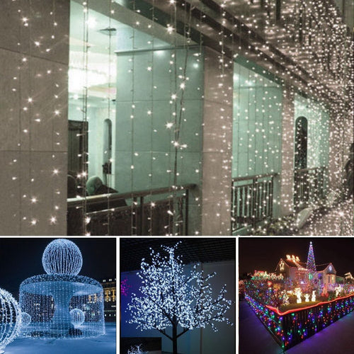 Solar Powered LED Lights (Waterproof) - 33 Feet