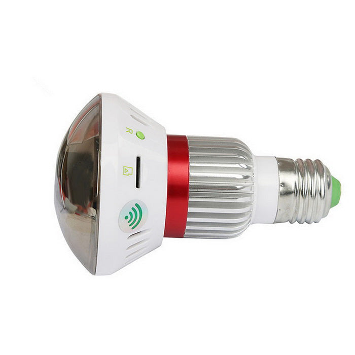 2-in-1 Surveillance Camera and LED Bulb with 5 Wireless Alarm Sensors