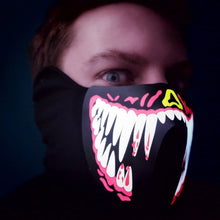 LED Rave Mask (Red Tusk)