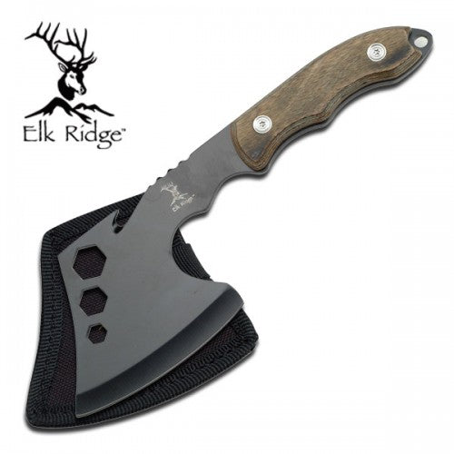 Black Stainless Steel Axe with Wooden Handle