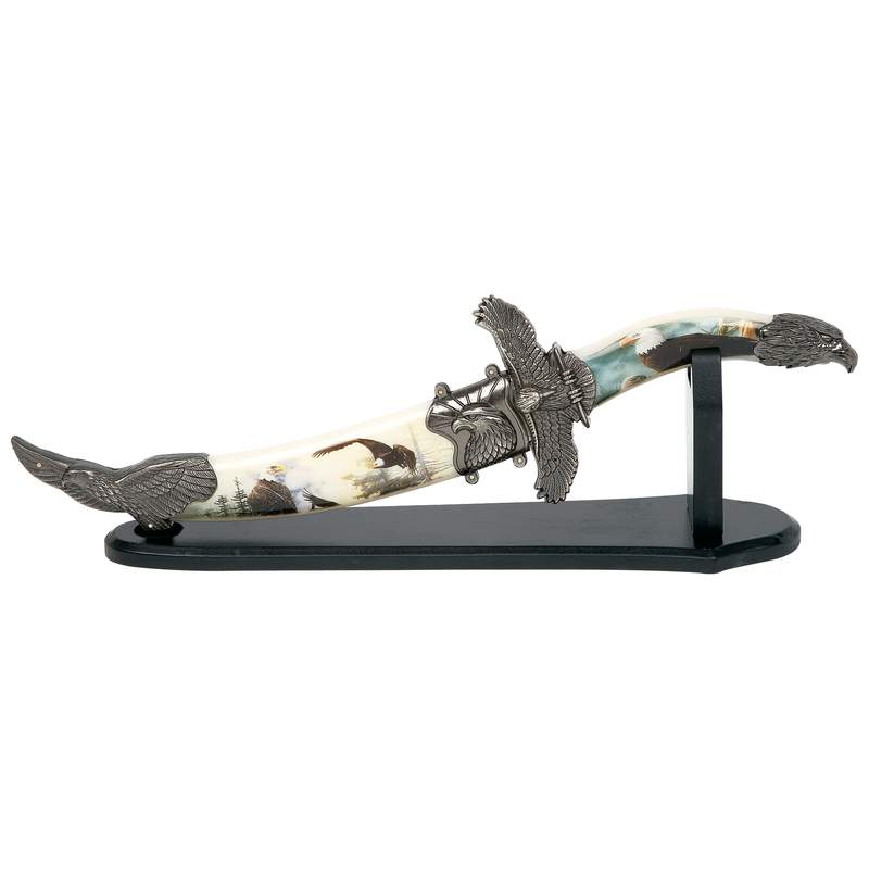 Eagle Collector Knife with Sheath & Stand - SS Blade
