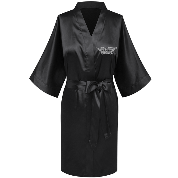 Wings Logo Bling Satin Robe