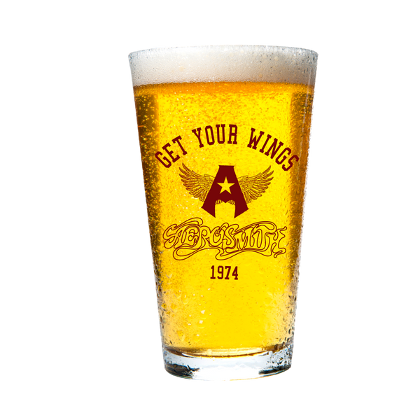 Get Your Wings 1974 Beer Pint Glass