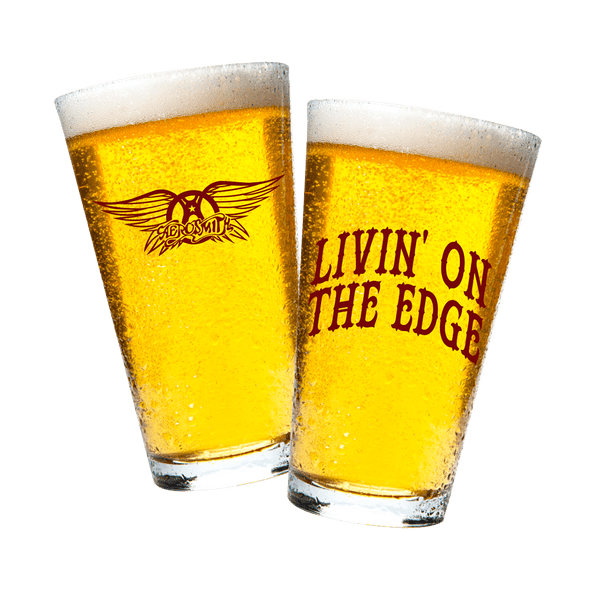 Livin' On The Edge Beer Pint Glass