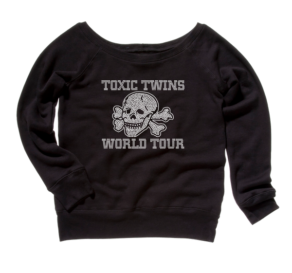 Toxic Twins Bling Slouchy Fleece Sweater