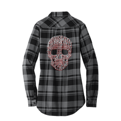 Bling Skull Flannel Tunic