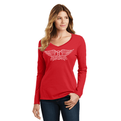 Bling Long Sleeve Fan Favorite V Neck