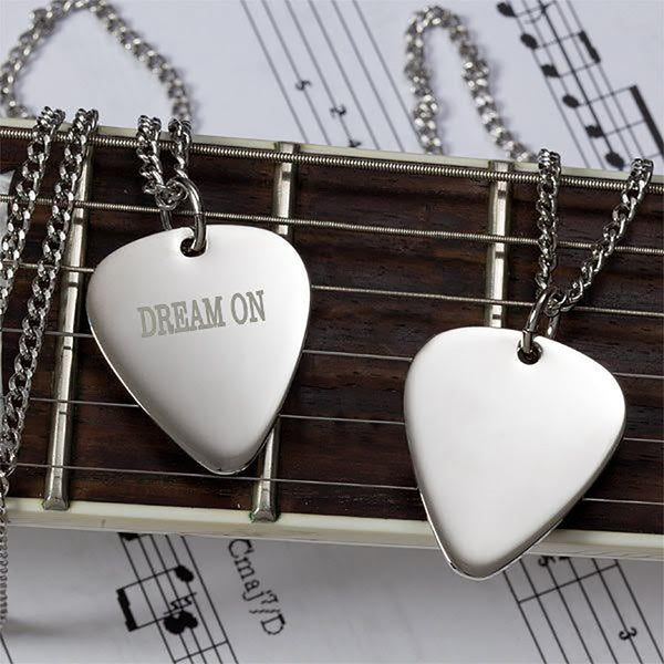Dream On Guitar Pick Necklace