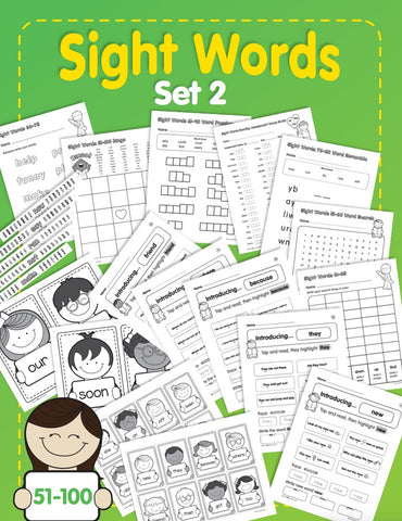 Sight Words, Set 2: 51-100