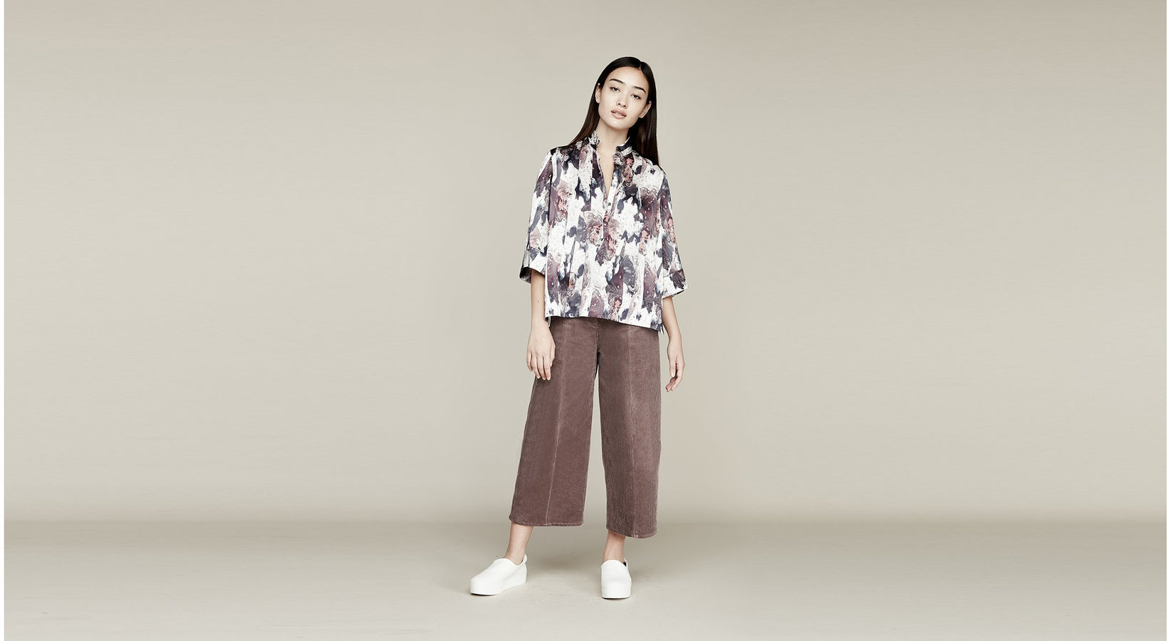 Where Mountains Meet Drea Blouse in Marly Print