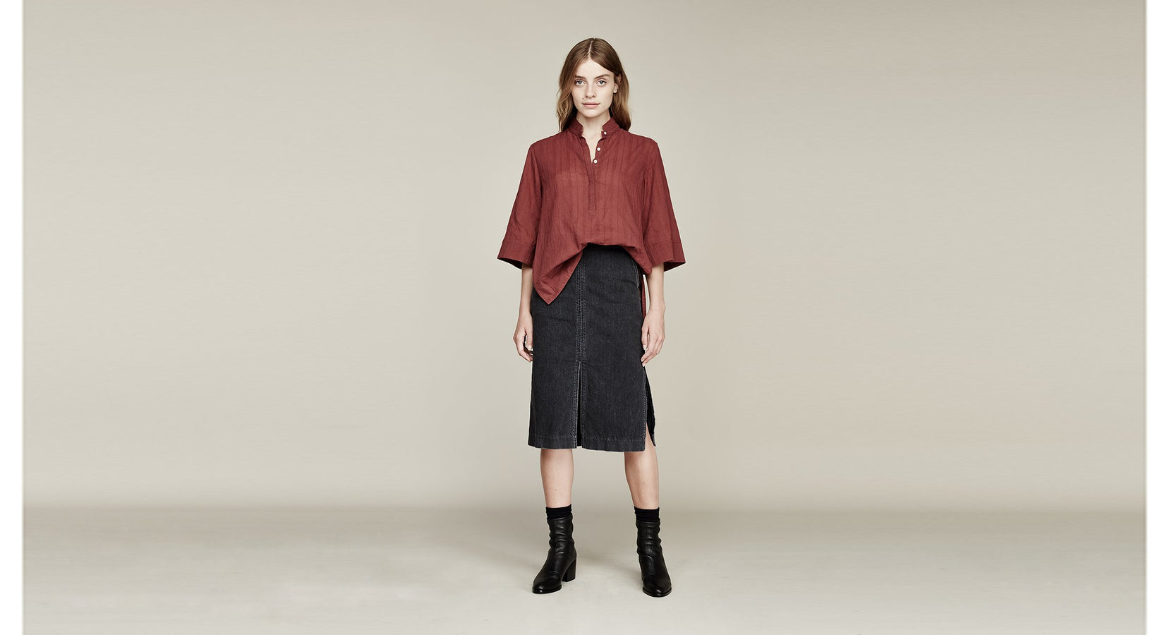 Where Mountains Meet Drea Blouse Cinnamon