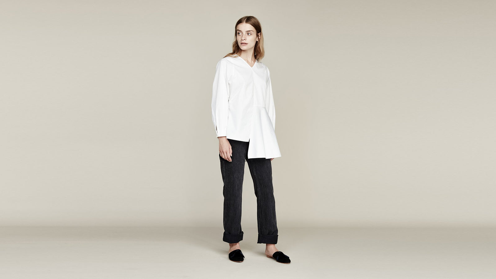 Where Mountains Meet Marina Blouse in Salt