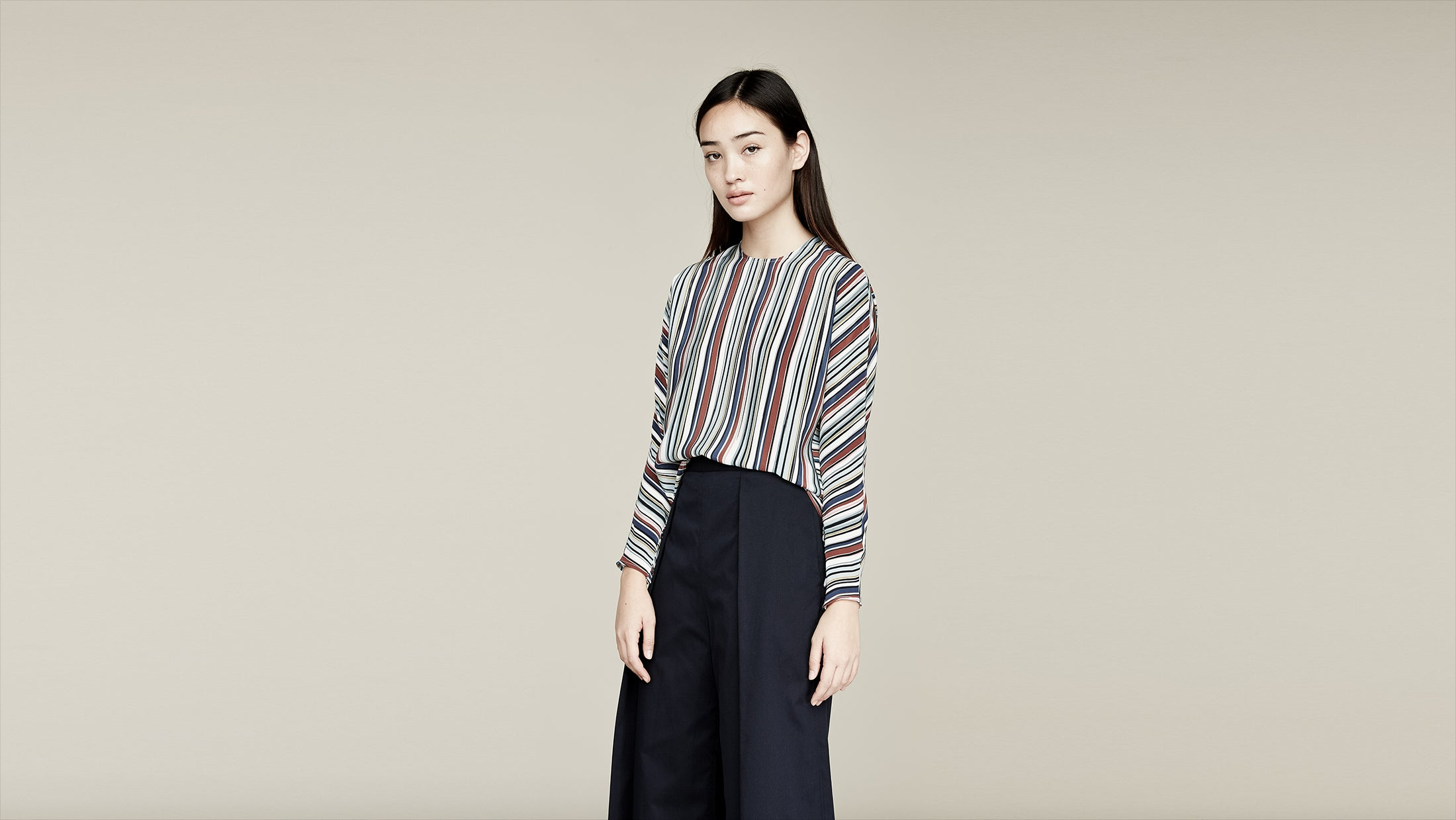 Where Mountains Meet Naia Blouse in Brooke Stripe